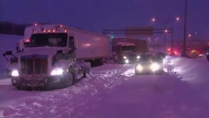 Massive pileup on Montreal highway strands drivers overnight in snowstorm
