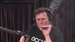 Elon Musk smokes weed on live web show with comedian Joe Rogan (00:36)