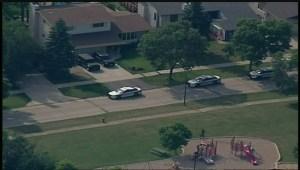 Police take Aaron Driver into custody on Friday afternoon in Winnipeg