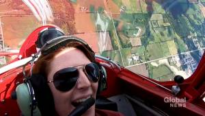 Global Peterborough weather analyst goes in stunt plane with aerobatic pilot (02:26)