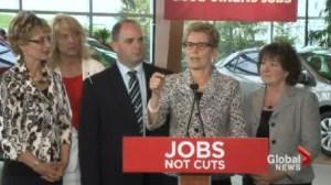"""Ontario election: Wynne calls Horwath """"irrelevant"""""""