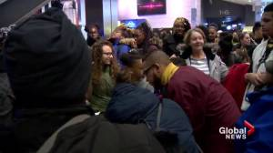 Black youths attend Black Panther screening after crowdfunding campaign (01:43)