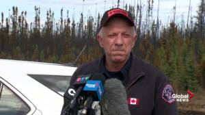 Darby Allen fights back tears as he addresses media in Fort McMurray: I want to tell my sons I love them