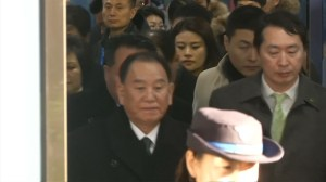 North Korea delegation arrives for Olympics closing ceremony in South Korea