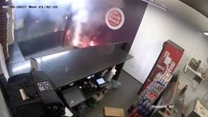 70 fireworks explode in pizza store, employees run for cover