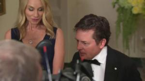 White House state dinner: Canadian actor Michael J. Fox arrives