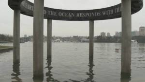 King Tide threatens False Creek shoreline