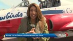 Global News anchor Farah Nasser flies with the Canadian Forces Snowbirds