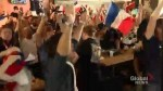 France fans celebrate 2nd World Cup win in Vancouver