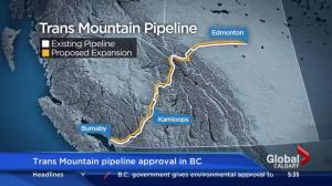 Trans Mountain pipeline expansion approved in B.C.