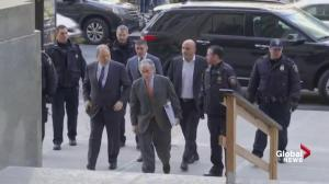 Harvey Weinstein arrives for court to hear if case will be dismissed