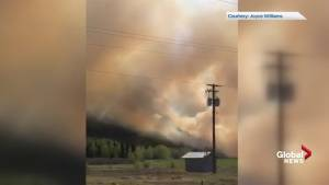 Wildfire in central B.C. forces evacuations
