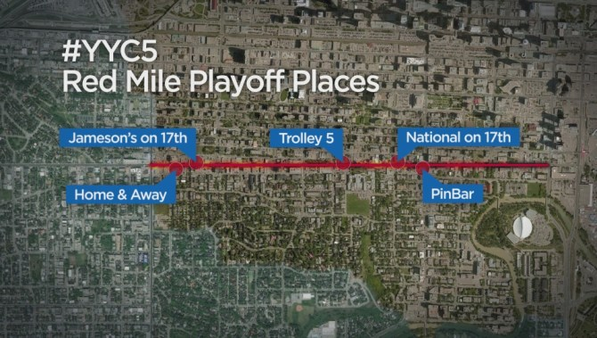#YYC5 finds best spots to catch Calgary Flames action on Red Mile