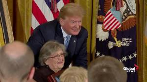 President Trump presents medal of honor to World War II hero