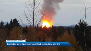 Enbridge gets approval to restart secondary gas line