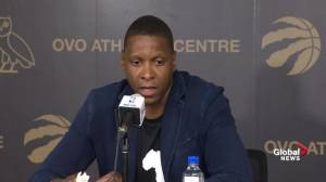 Masai Ujiri sends personal message to Derzoan, Casey, and JV
