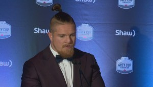 RAW: Blue Bombers Adam Bighill On CFL Awards