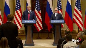 Trump says he takes Putin's word on Russian interference, brings up Hillary Clinton