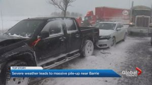 Dozens of vehicles involved in highway crash near Barrie