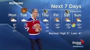 Edmonton Weather Forecast: Oct. 29 (03:03)