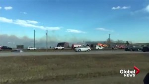 Viewer video shows grass fire north of Calgary