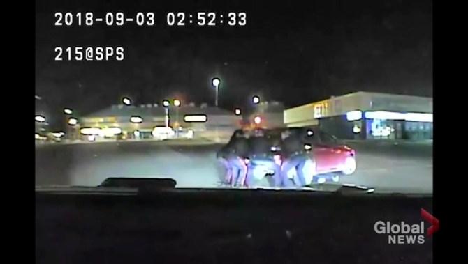9 Saskatoon police officers lift car crushing man