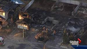 Four homes destroyed after fire in Calgary's Kincora neighbourhood