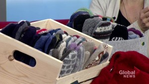 Saskatoon company turns recycled wool sweaters into handmade mittens
