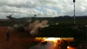 Video shows Russian military accidentally launch rockets at spectators during military games