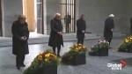 Macron, Merkel pay respects at Berlin war memorial