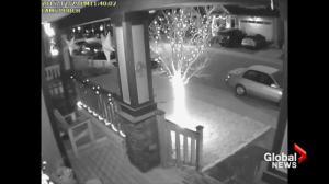 Home security camera captures BC earthquake