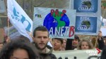 French students march in Paris to demand action on climate change