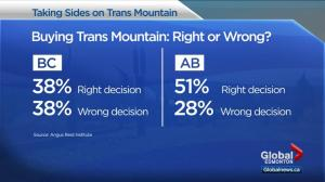 Poll examines Canadians' thoughts on feds buying Trans Mountain