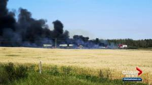 Evacuation order lifted for Alberta hamlet hours after deadly crash involving fuel-laden trucks