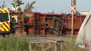 Train derailment in southeast Calgary on Tuesday
