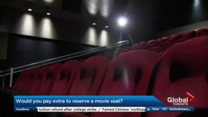 Would you pay to reserve a seat at the movies?