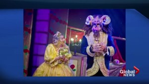 These Beauty and the Beast costumes are pretty hairy