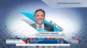 Quebec Election: CAQ wins majority of seats