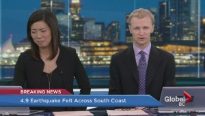 Global's Kristen Robinson on what the quake felt like in Vancouver