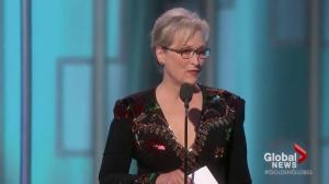 Donald Trump slams Meryl Streep's Golden Globes speech on Twitter