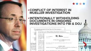 U.S. conservative lawmakers calling for impeachment of Deputy AG Rod Rosenstein