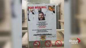 40 'disturbing' anti-Muslim posters spur outpouring of support at University of Calgary