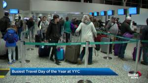Busy travel day at YYC