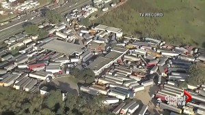 Brazilian truckers continue strike leading to long lines for gas, food shortages