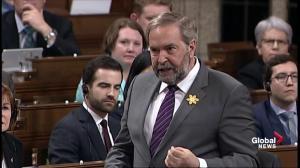 Mulcair calls Trudeau's Bahamas trip an 'illegal vacation'