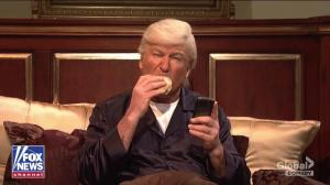 Alec Baldwin's Trump returns to 'SNL' cold open for 'Fox & Friends' episode from bed