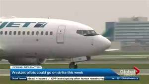 Deadline looming for possible strike action at WestJet (02:02)