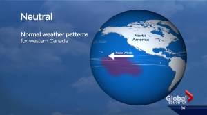 The shift from El Nino to El Nina
