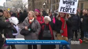 Women's marches return to the streets around the world