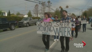 March for clean water in Harrietsfield